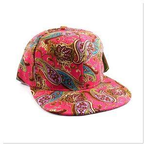 Pink Paisley Cap